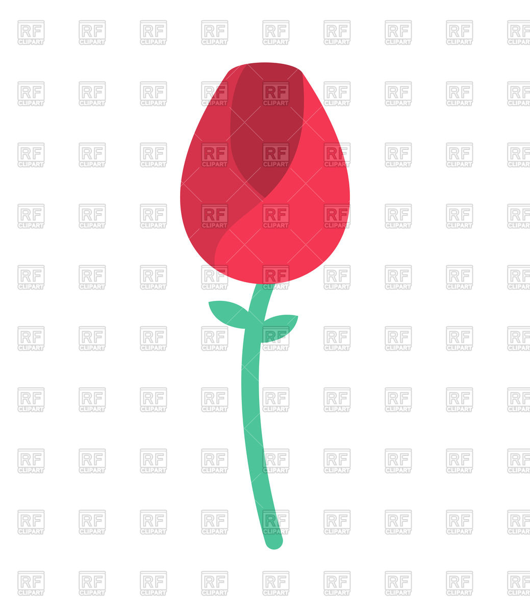 1039x1200 Red Rose Royalty Free Vector Clip Art Image