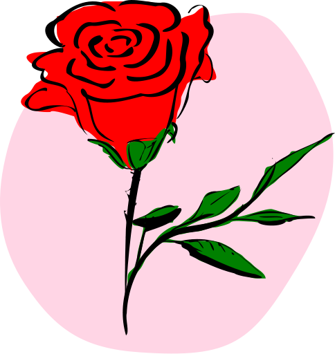 484x512 Free Rose Clipart