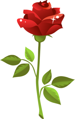 252x400 Red Rose Clip Art 101 Clip Art