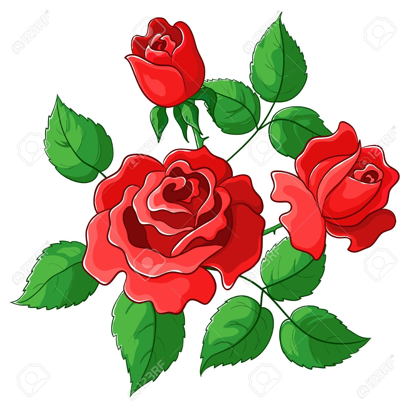 1300x1300 Red Rose Clipart Rose Garden Free Collection Download And Share