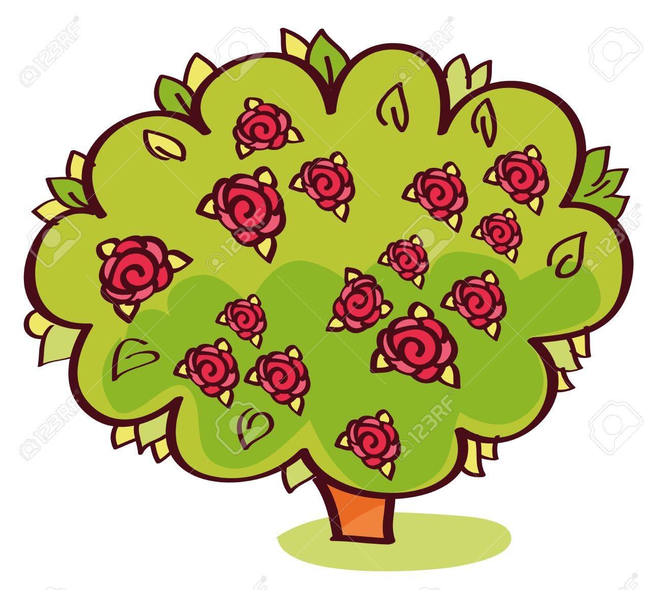 1300x1160 Rose Bush Clipart Beautiful Plant
