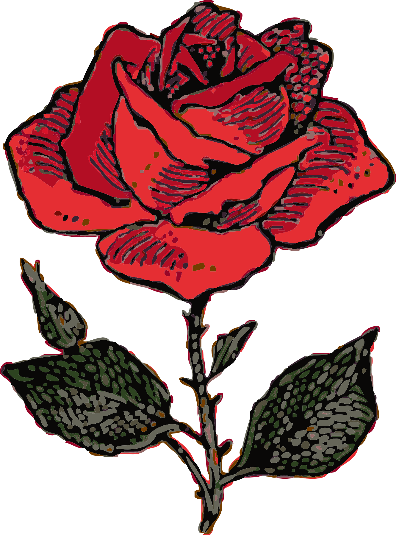 1331x1797 Collection Of Rose Clipart Transparent High Quality, Free
