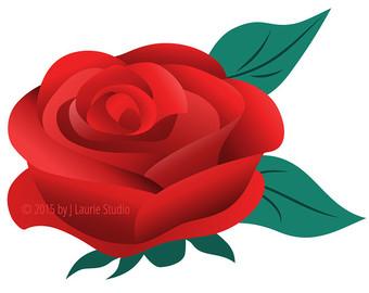 340x270 Rose Clip Art Etsy