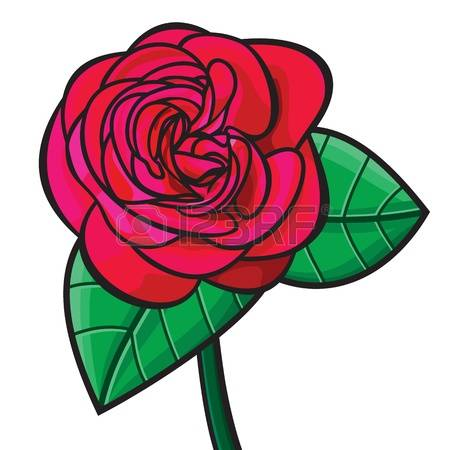 450x450 Wild Red Rose Clipart