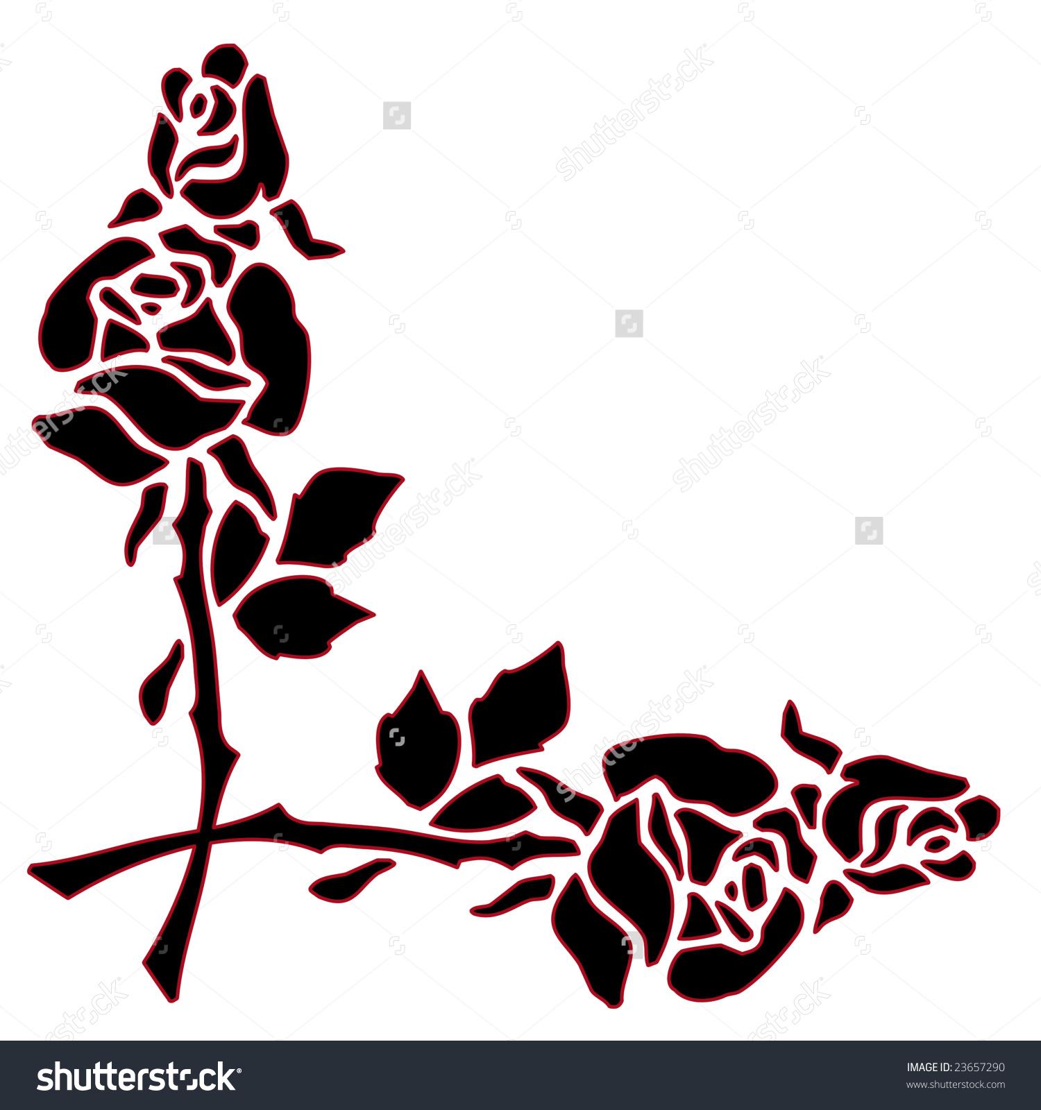 1500x1600 Rose Flower Border Free Download Clip Art Free Clip