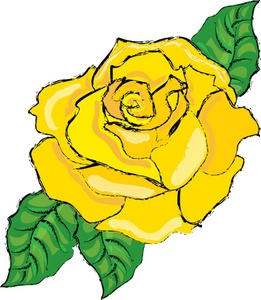 261x300 Yellow Rose Clipart Free Yellow Rose Bud Art Clipart