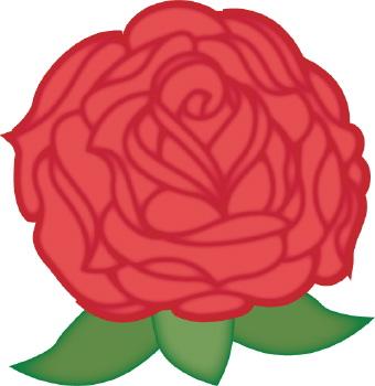 340x350 Flower Clip Art