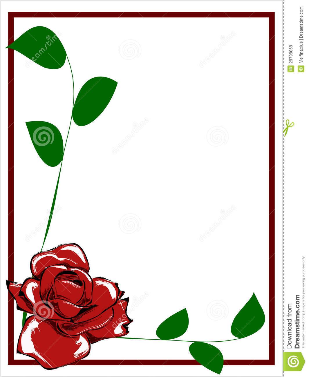 1065x1300 Red Flower Border Clip Art Clipart Panda