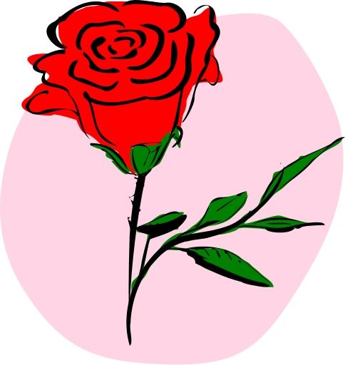 484x512 Flower Clipart Rose