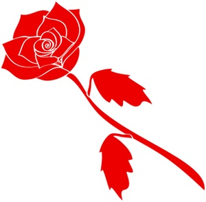 300x294 Free Red Rose Clipart Image 0071 0801 3019 1708 Valentine Clipart