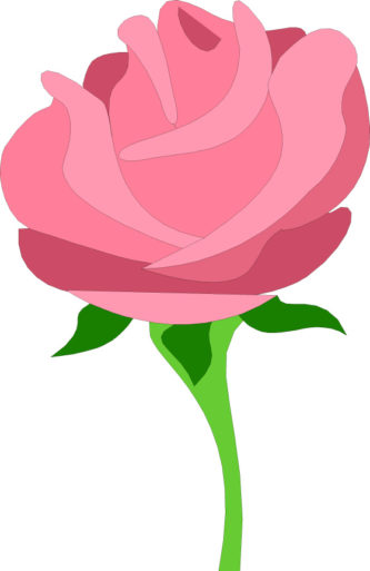 333x513 Pink Rose Clipart Animated