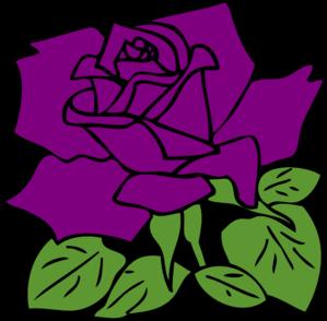 299x294 Purple Rose Clip Art