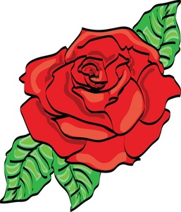 257x300 Red Rose Clipart Image