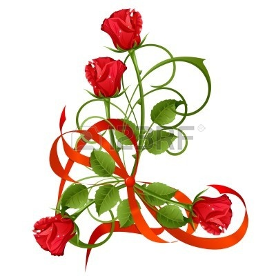 400x400 Clip Art Of Red Roses Bouquet Clipart