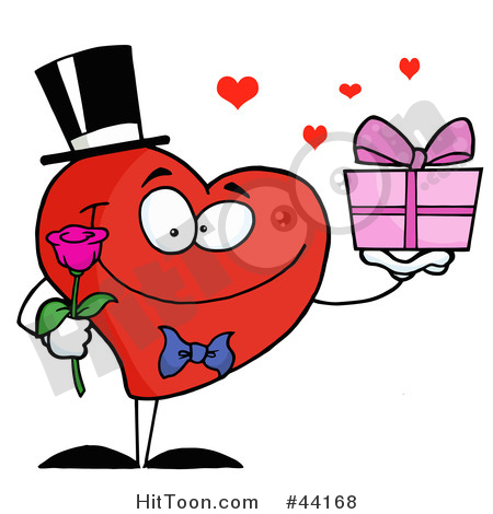450x470 Heart Character Clipart