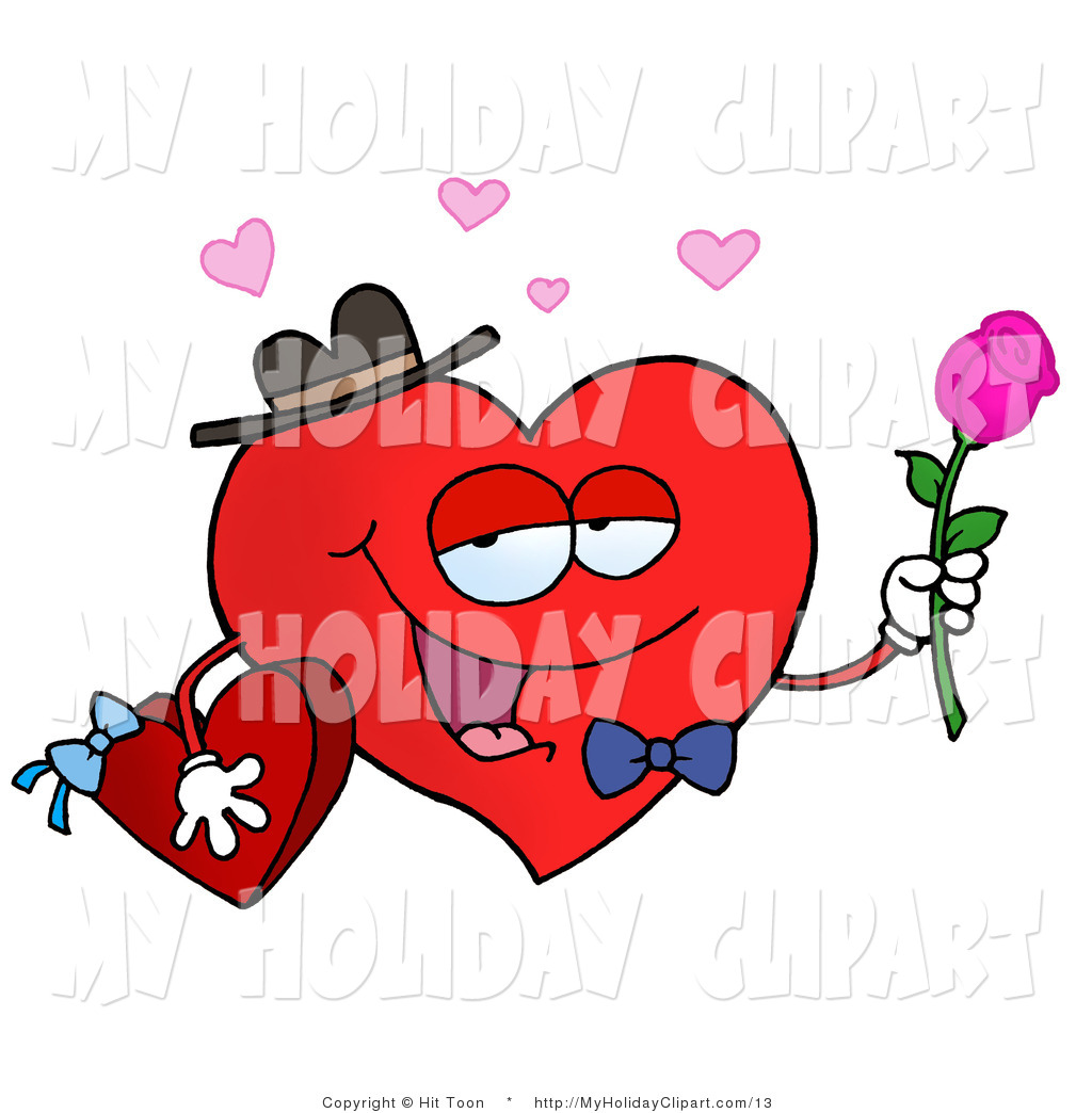 1024x1044 Vector Clip Art Of A Sweet Red Heart Character In A Bowtie And Hat