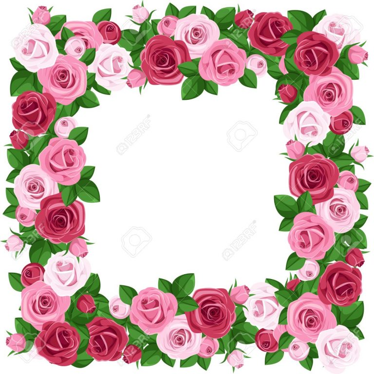 768x768 Pink Rose Border Clip Art Free 20960674 Frame With Red And Pink