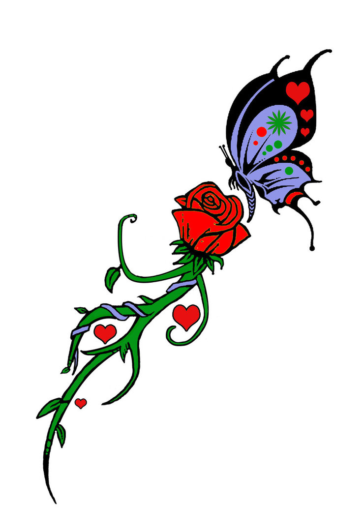The Best Free Rose Tattoo Clipart Images Download From 50 Free