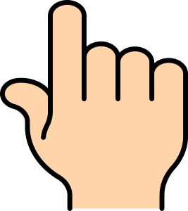 267x300 Middle Finger Clipart Pointer Finger Clip Art