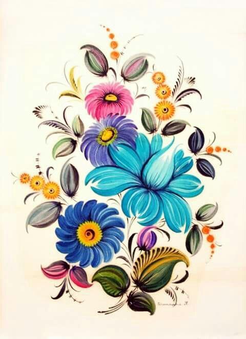 480x661 323 Best Folk Art Images On Brush Strokes, Decorative