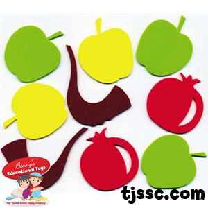 300x300 Rosh Hashanah Colorful Jewish Foam Shapes