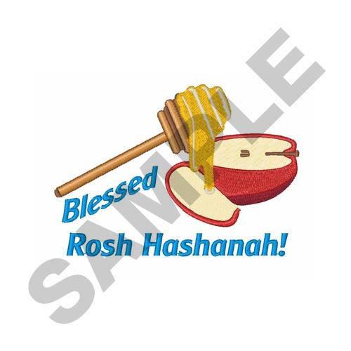 500x500 Rosh Hashana Machine Embroidery Design