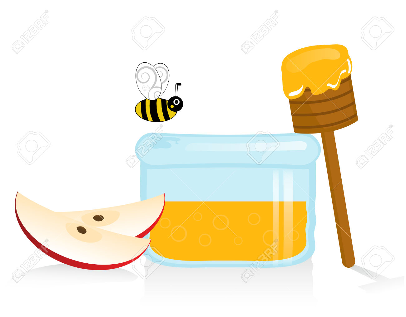 1300x1016 Apple In Honey Clipart