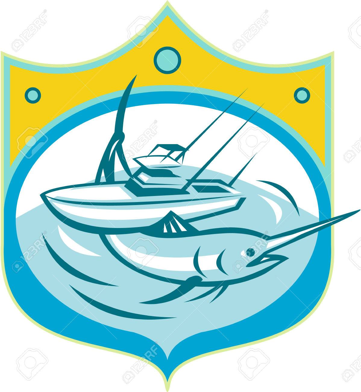 1198x1300 Fishing Boat Clipart Marlin Fishing