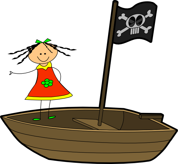 600x552 Sailing Girl Clip Art