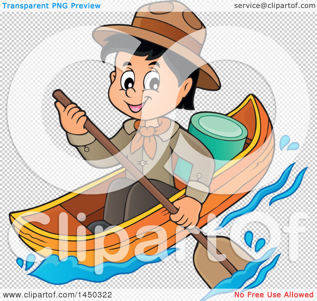 1080x1024 Clipart Graphic Of A Happy Scout Boy Rowing A Boat