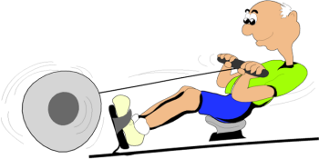 350x175 Rowing Machine Clip Art I Am Going To Start A Workout Clipart