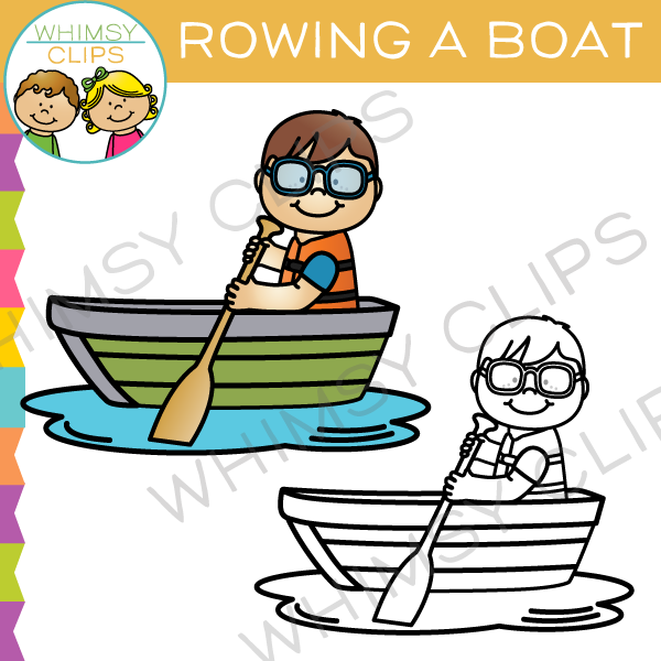600x600 Rowing A Boat Clip Art , Images Amp Illustrations Whimsy Clips