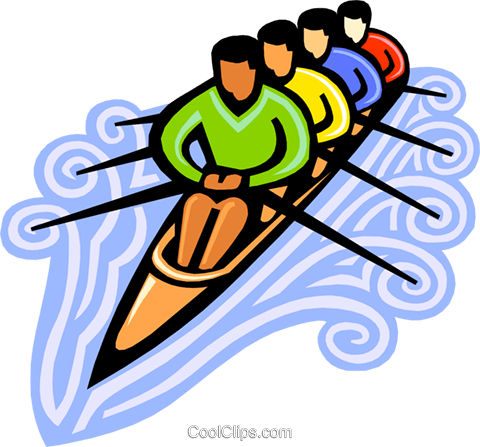 480x447 Rowers Royalty Free Vector Clip Art Illustration Vc000122