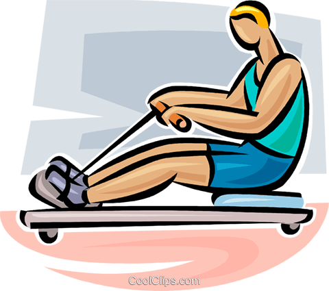 480x425 Rowing Machine Royalty Free Vector Clip Art Illustration Vc063078