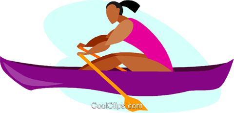 480x231 Women In Rowing Race Royalty Free Vector Clip Art Illustration
