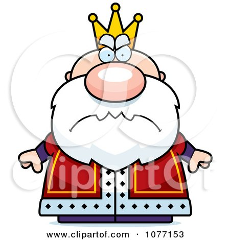 450x470 Clipart Mad Royal King