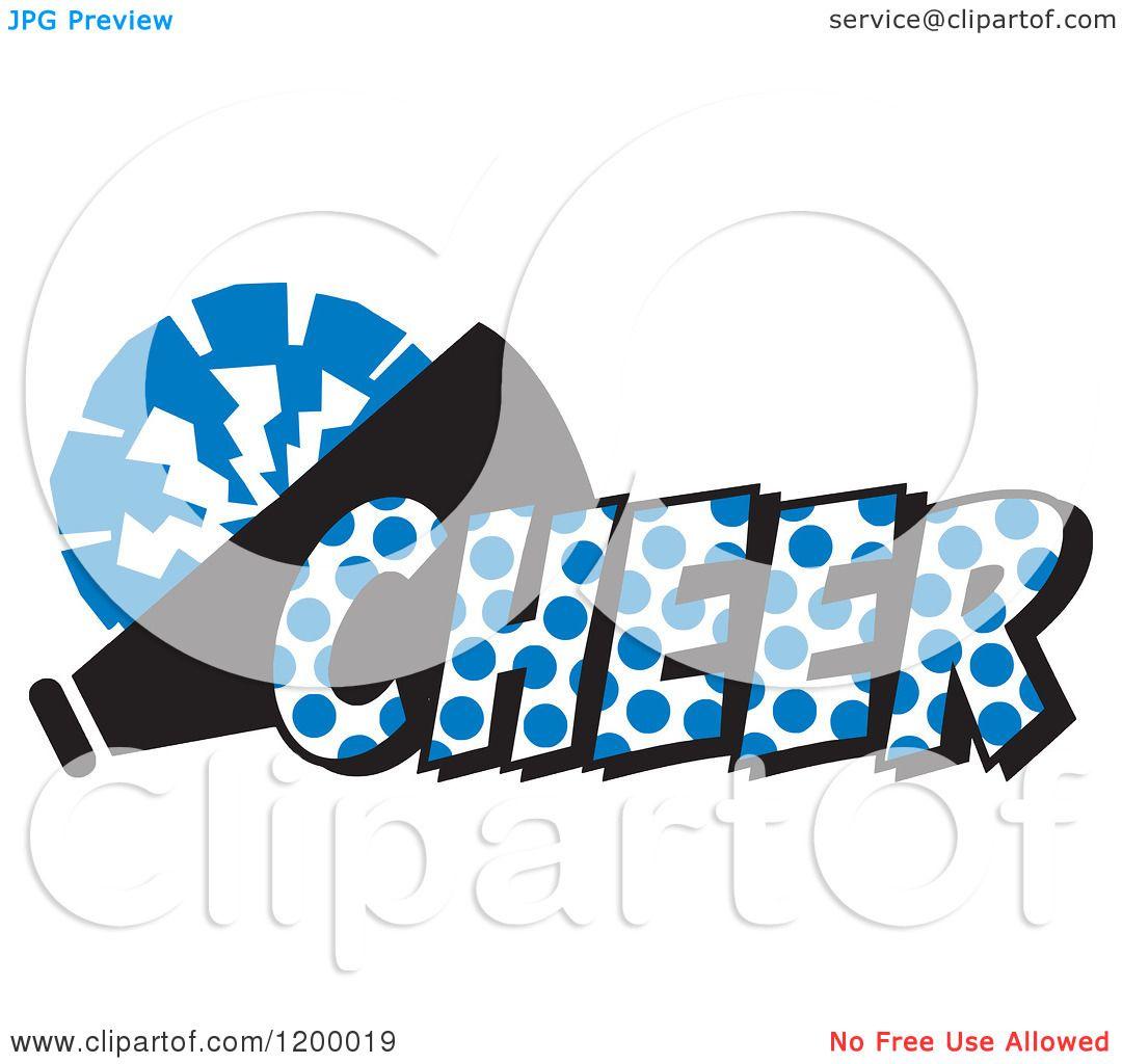 1080x1024 Clipart Of A Royal Blue Polka Dot Cheer