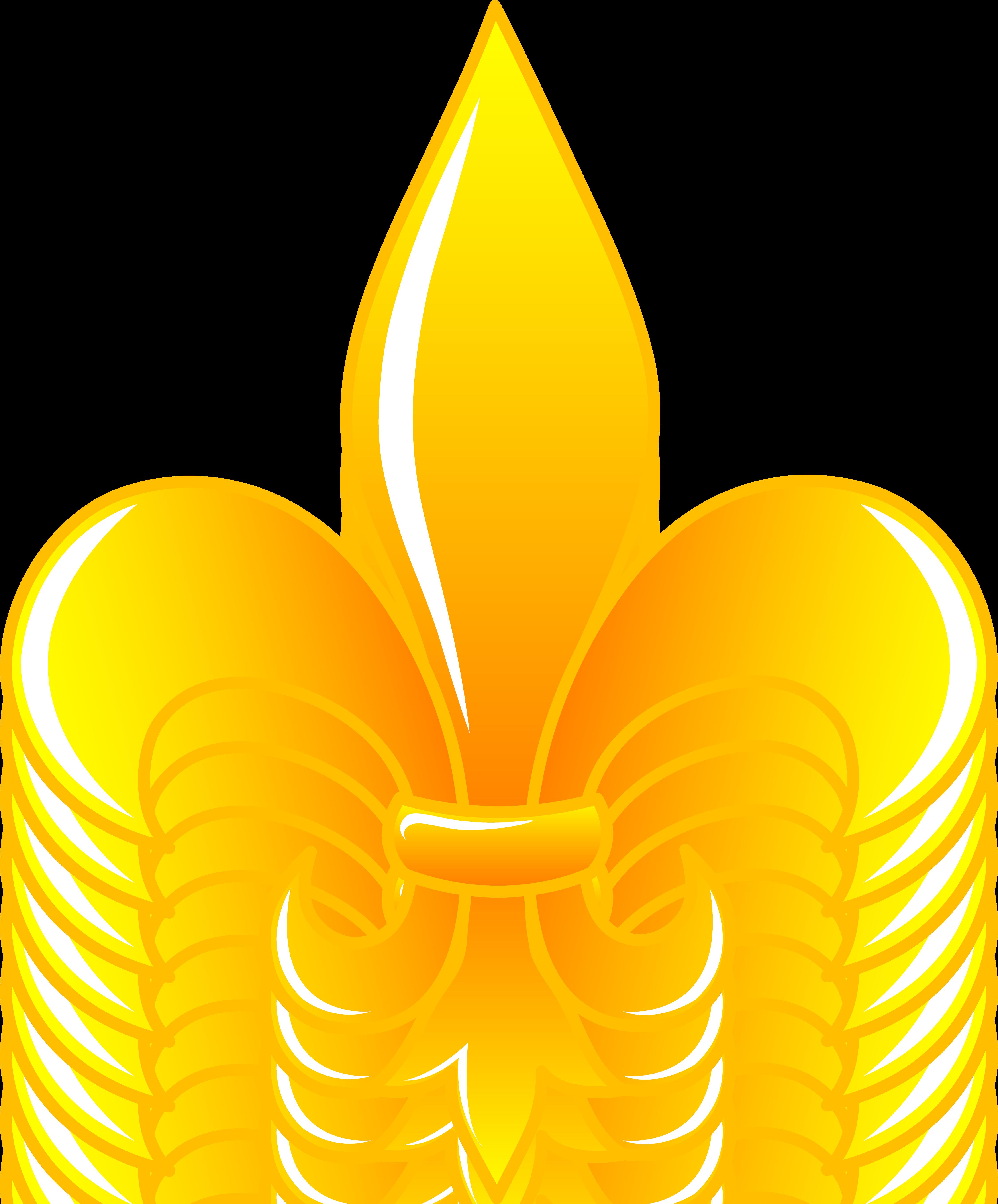 4501x5429 Fleur De Lis Shiny Gold Clip Art