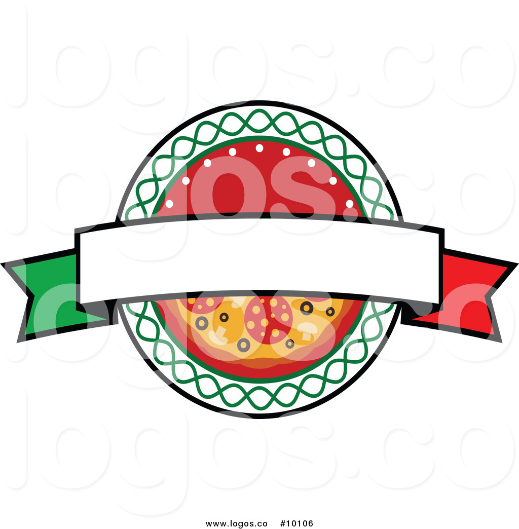 1024x1044 Royalty Free Clip Art Vector Blank Banner And Pizza Logo By Vector