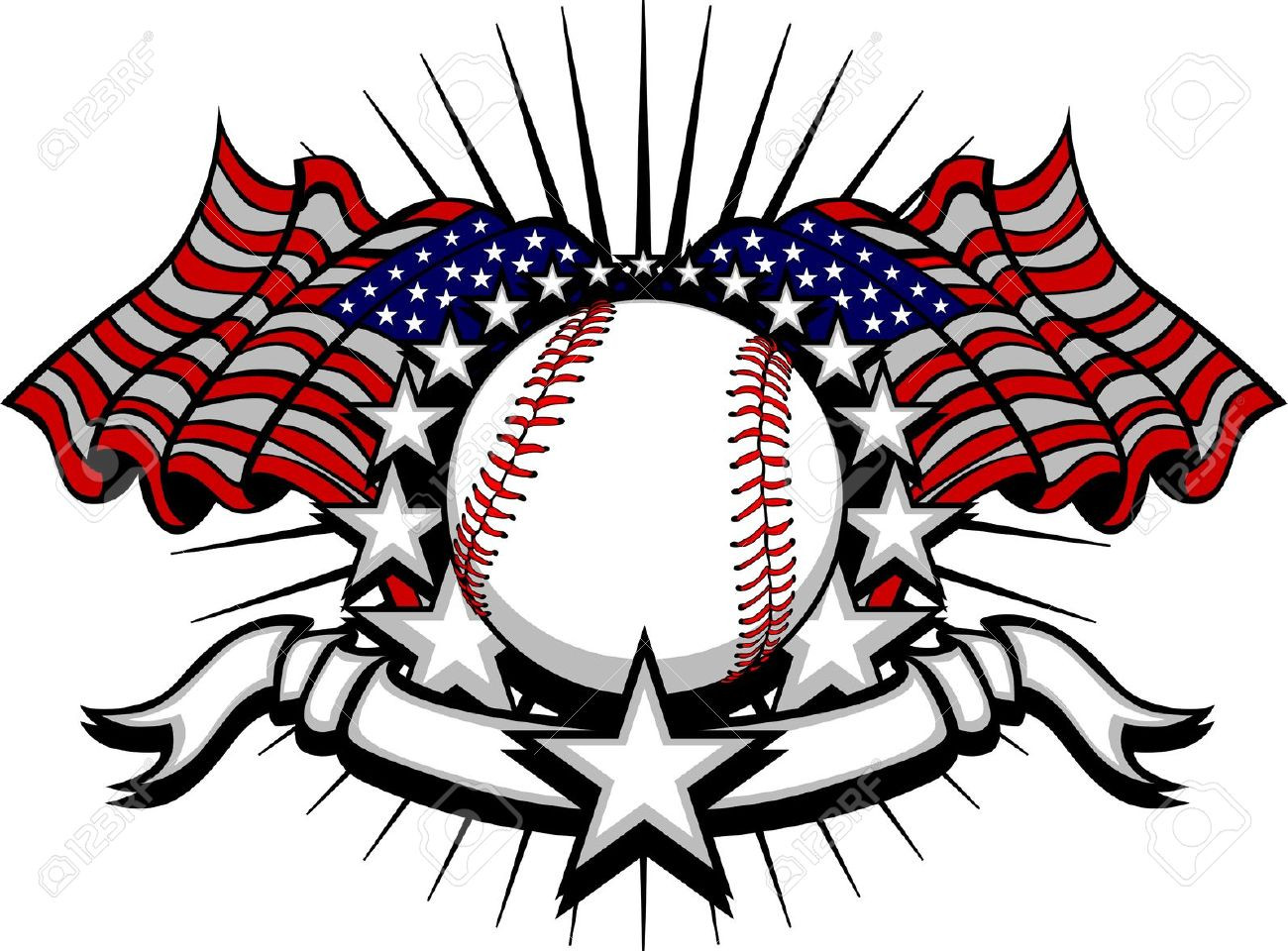 1300x960 Royalty Free Clip Art Vector Logo Of A Screaming Softball By Cool
