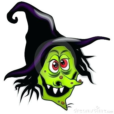 400x400 Clip Art Witches Witch Checking Her Watch While Making A Spell