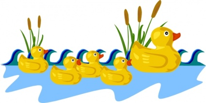 425x213 Free Download Of Rubber Duck Family Swimming Clip Art Vector