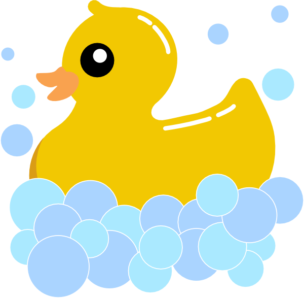 600x587 Rub Duck Foam Clip Art