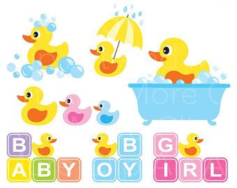 340x270 Rubber Duck Clip Art Etsy
