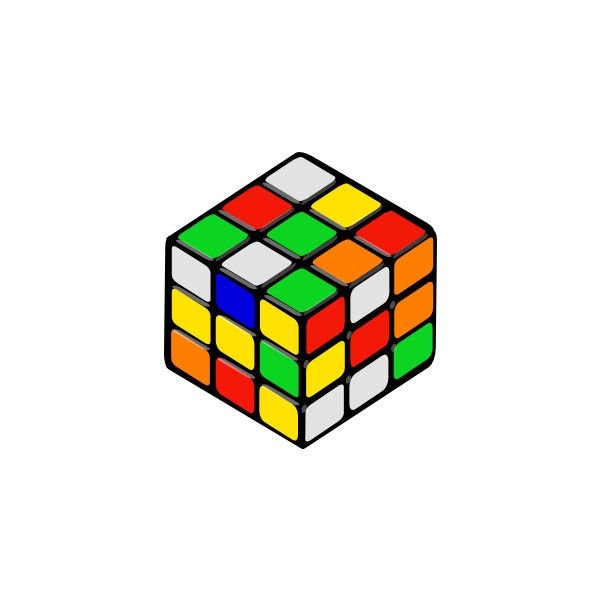 600x600 Rubik's Cube Random Clip Art