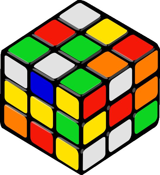 546x595 Rubik's Cube Random Clip Art Free Vector 4vector
