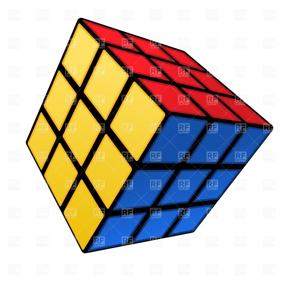 1200x1200 Rubik's Cube Royalty Free Vector Clip Art Image