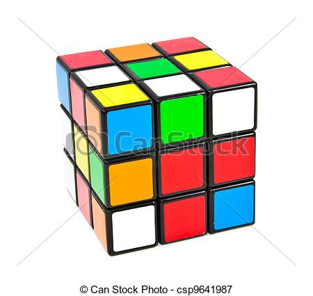 450x426 Rubik's Cube Stock Illustrations