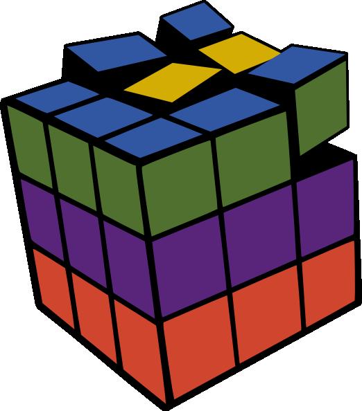 522x594 Rubiks Cube 3d Colored Clip Art