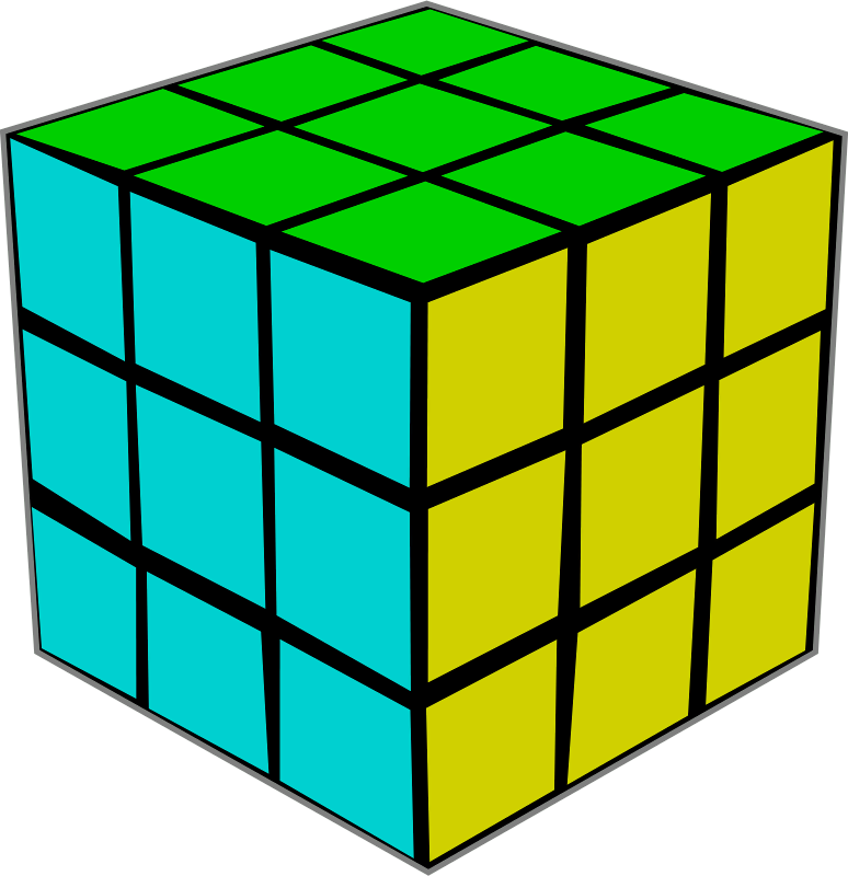 774x800 Rubiks Cube Clip Art